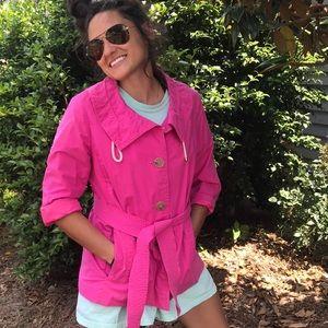 Pink JCREW coat